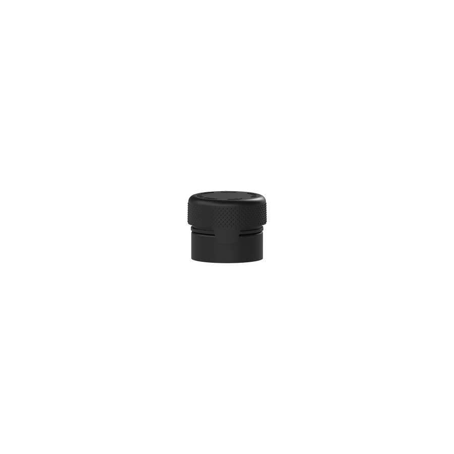 5cc/5ML Aviator CR - Container With Inner Seal & Tamper - Opaque Black With Opaque Black Lid - Copackr.com