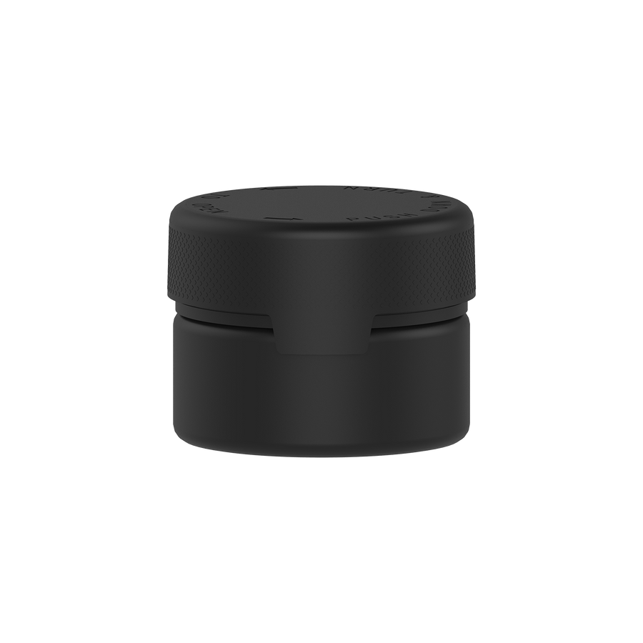 220CC/7.5FL.OZ/220ML Aviator CR - XL Container With Inner Seal & Tamper - Opaque Black With Opaque Black Lid - Copackr.com