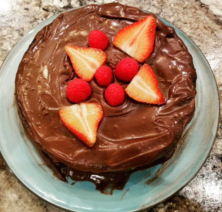 Gluten-Free Glazed Chocolate Cake