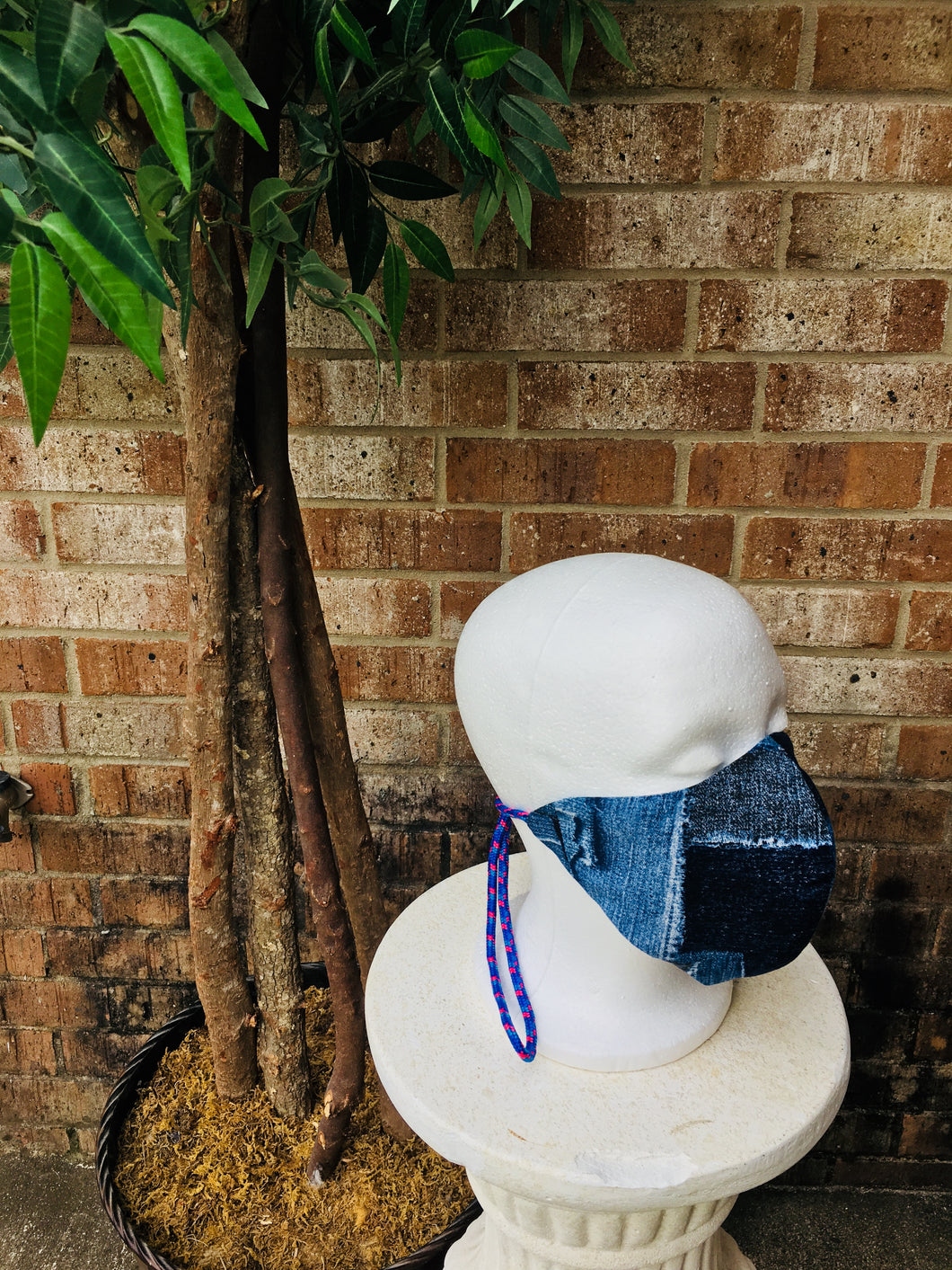 Denim Print Mask