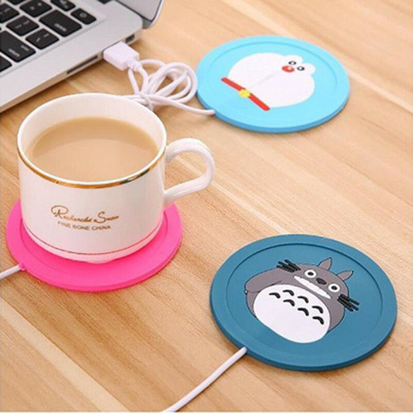 New Cartoon . Design Silicone USB Coaster Cup. Heating Coffee Tea Drink Warmer. Pad Mat High Quality device Office