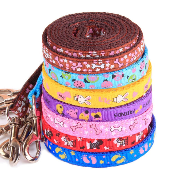 Adjustable Pet Harness And Leash Set Doggie Puppy Leashes Lead Harness Nylon Small Dog Cat Katten Belt Rope Random Pattern Print