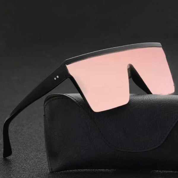 Male Flat Top Sunglasses Men Brand Black Square Shades UV400 Gradient Sun Glasses For Men Cool One Piece Designer