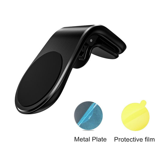 Metal Magnetic Car Phone Holder Mini Air Vent Clip Mount Magnet Mobile Stand For iPhone  Smartphones in Car
