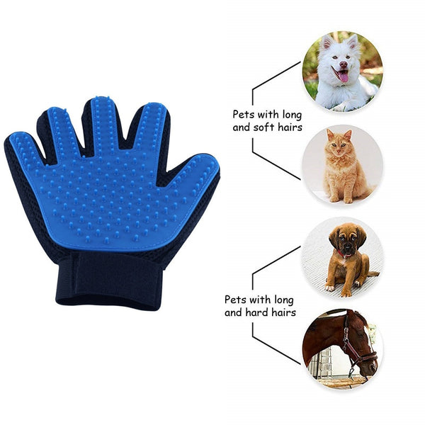 2020-A1 Pet Gloves Hair Remover Brush Dog Cat grooming gloves .Hair Remove.Brush.Bath cleaning