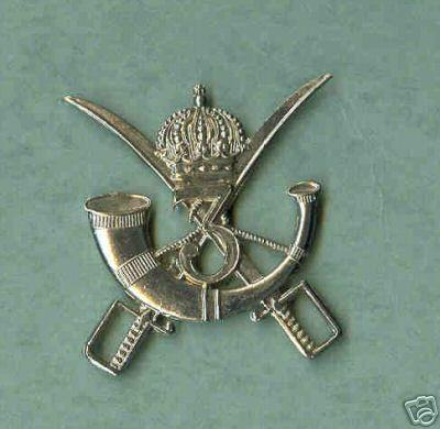BELGIUM Armoured Troops Cap Badge, 3rd Chassiers