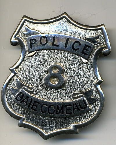 Baie Comeau Police Cap Badge