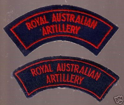 AUSTRALIAN Artillery CORPS CLOTH SHOULDER FLASHES, pair