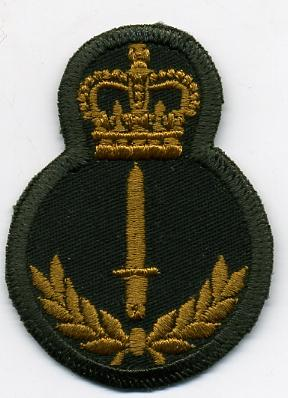 Grp 4, Infantry Trade Badge - green