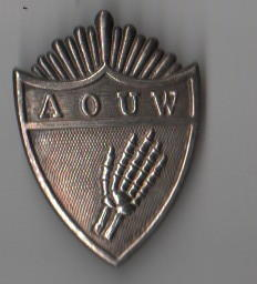 AOUW Ancient Order of United Workers Silver badge