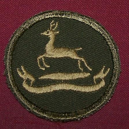 Canadian Army Combat Boonie Badge: RCD, Royal Canadian Dragoons