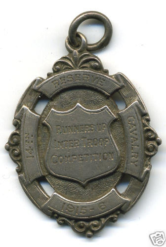 STERLING 1915-16 14th Reserve Cavalry Troop Medallion
