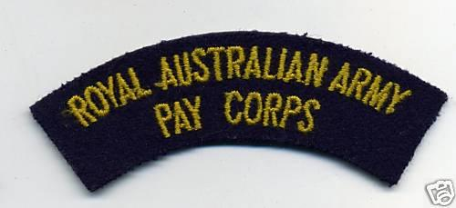 Royal Australian Army Pay Corps Cloth Shoulder Patch