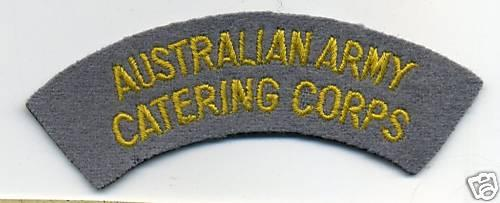 Australian Army Catering Corps Cloth Shoulder Patch
