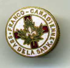 Association FRANCO CANADIENNE DELA SASK. Lapel Pin