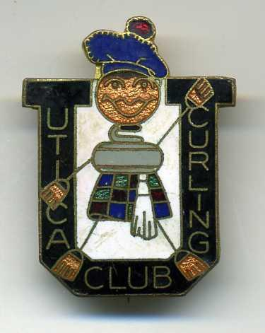 Curling Pin: Utica Curling Club