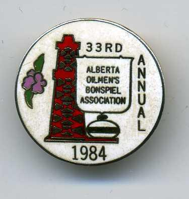 Curling Pin: Alberta Oilmen's Bonspiel Association
