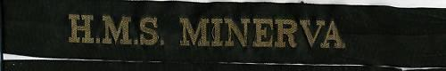 British Navy, Cap Tally: H.M.S. MINERVA
