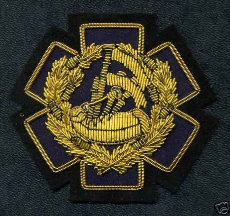 Gold Wire, PIPE MAJOR EMS / EMT, Badge of Appointment