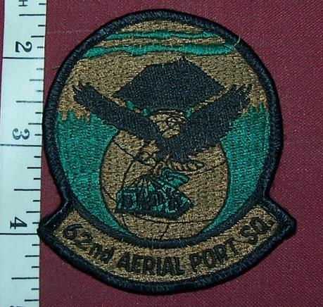 USA: 62nd Aerial Port Squadron Jacket Crest
