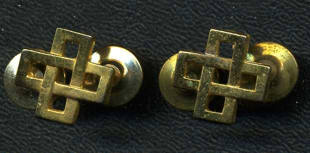 Logistics Branch Collar Badge Pair