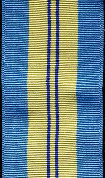 UN Emergency Force Middle East (UNEFME) Medal Ribbon. Full size