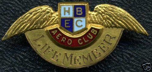 HBEC Hawkes Bay East Coast AERO CLUB Membership Pin NZ