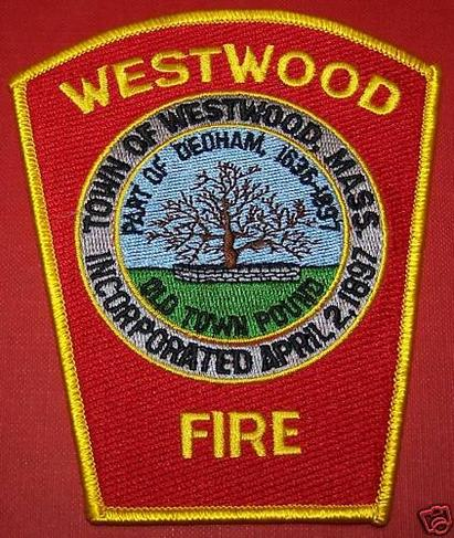 Massachusetts: Westwood Fire Department Shoulder Patch