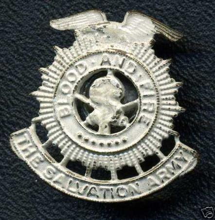 USA: THE SALVATION ARMY Frosted Silver Pin