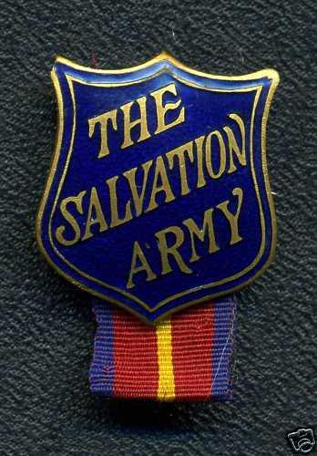 THE SALVATION ARMY Pin with ribbon