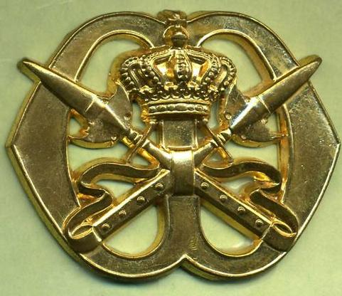 Dutch Army: Royal Military School Cap Badge