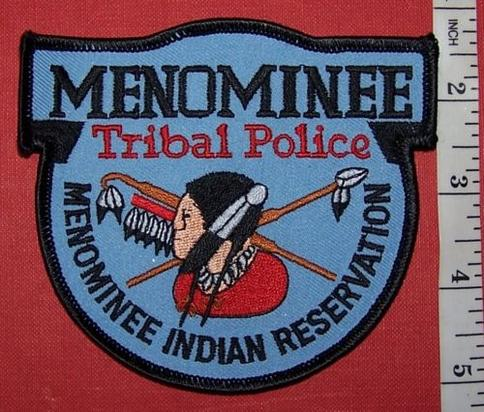 USA TRIBAL: MENOMINEE POLICE Shoulder Patch