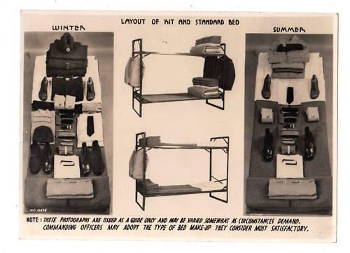 RCAF Photograph Layout of Kit and Standard Bed