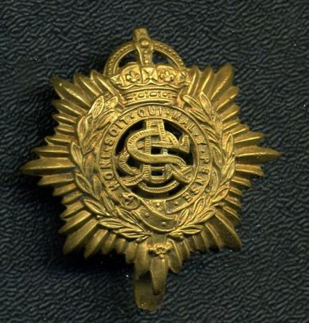 British: ASC Army Service Corps Cap Badge