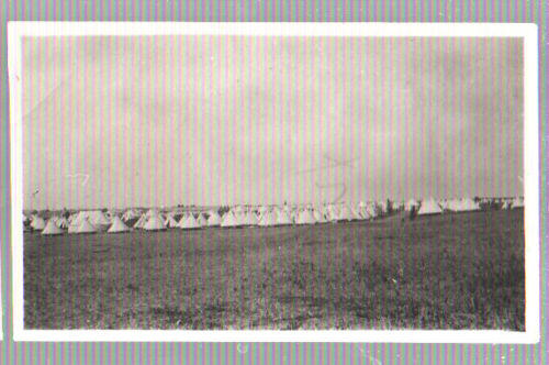 Postcard Camp SEWELL Manitoba TENTS