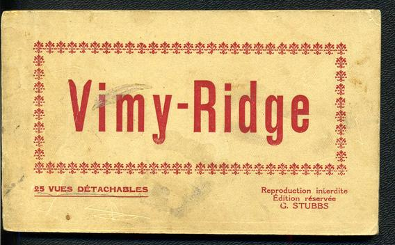 Post Card Booklet VIMY - RIDGE 1928 era 23 cards