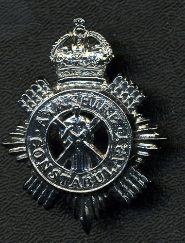 AYRSHIRE CONSTABULARY Cap Badge