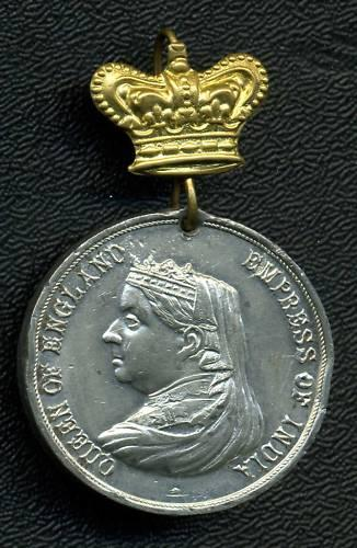 Queen VICTORIA 60 Year Jubilee Medal 1897 West Bromwich