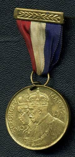 Geo V 1935 Jubilee Medal Bexhill On Sea