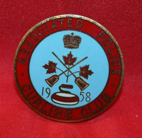 1958 ASSOCIATE POLICE CURLING CLUB Pin