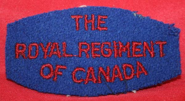 WW2, Royal Regiment of Canada Shoulder Patch