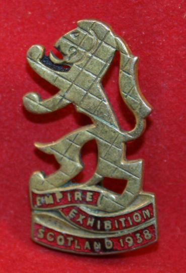Empire Exhibition Scotland 1938 Pin / Badge