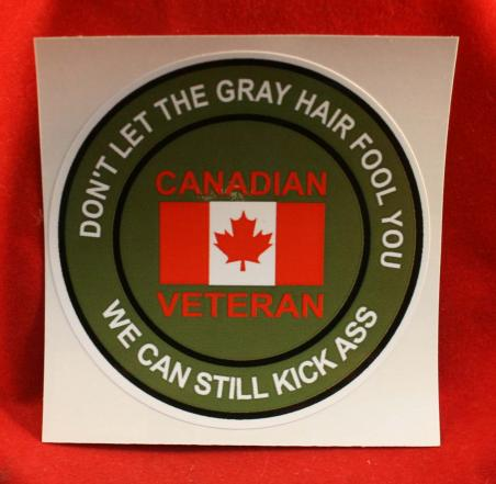 Novelty Canadian Veteran - Sticker / Decal
