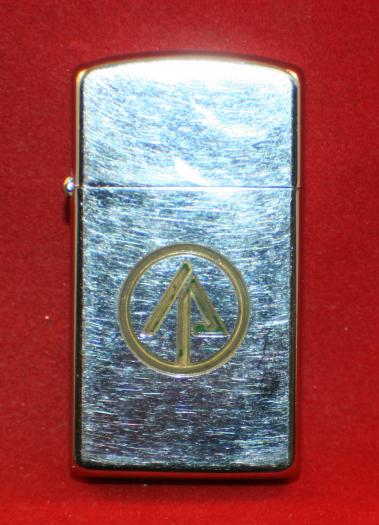 ZIPPO Lighter, Circle with Arrow Head type design. Forestry?