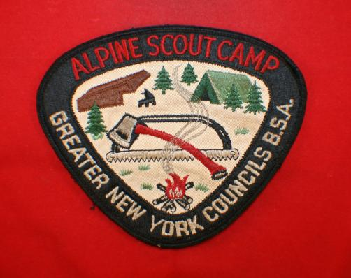 GREATER NEW YORK COUNCILS B.S.A. , Alpine Scout Camp, Patch