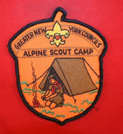 BSA, GREATER NEW YORK COUNCILS, Alpine Scout Camp Patch