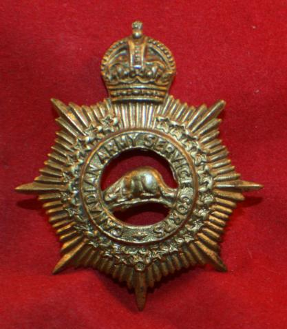 CASC, CANADIAN ARMY SERVICE CORPS, Cap Badge