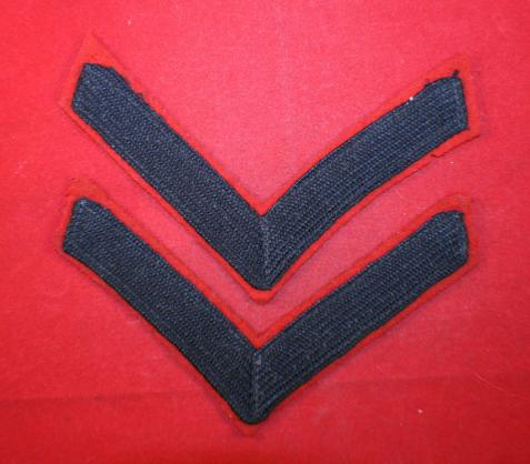 WW2 era, Lance Corporal Rank Insignia Pair - Rifle Regiments