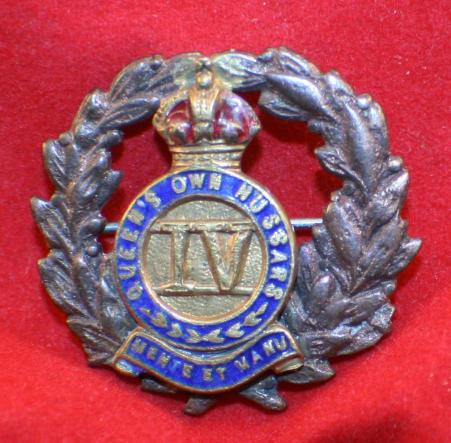 IV QUEEN'S OWN HUSSARS Sweetheart Pin
