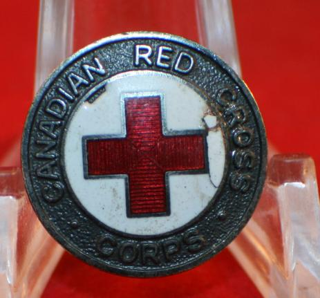 WW2 era, CANADIAN RED CROSS CORPS, Collar Badge